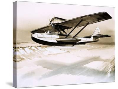 Dornier Wal, Twin-Engined German Flying Boat--Stretched Canvas Print