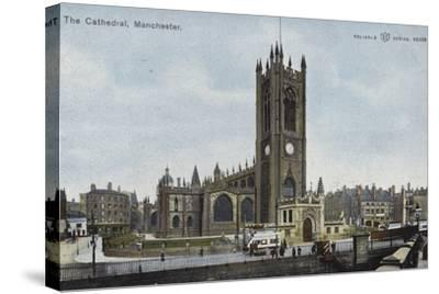 The Cathedral, Manchester--Stretched Canvas Print