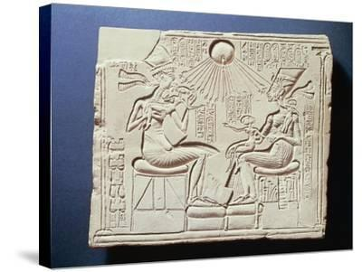 Relief Depicting King Amenhotep Iv--Stretched Canvas Print
