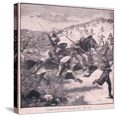 Charge of the Scots at Homildon Hill Ad 1402-Walter Paget-Stretched Canvas Print