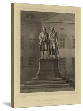 Schiller and Goethe, Weimar--Stretched Canvas Print