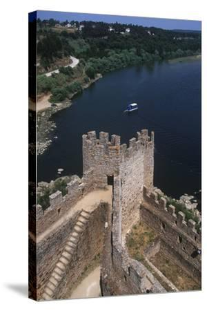 Portugal, Almourol Castle--Stretched Canvas Print