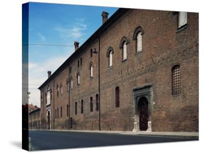 Facade, Palazzo Schifanoia--Stretched Canvas Print
