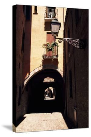 View of Via Delle Volte, Ferrara--Stretched Canvas Print