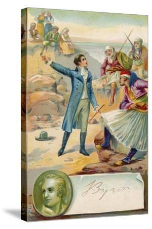 Lord Byron, English Poet--Stretched Canvas Print