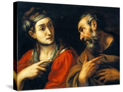 The Denial of Saint Peter-Daniele Crespi-Stretched Canvas Print