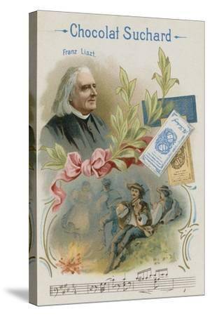 Franz Liszt, Austrian Composer and Musician--Stretched Canvas Print