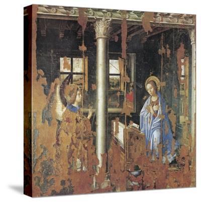 Annunciation-Antonello da Messina-Stretched Canvas Print
