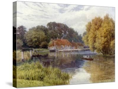 The Swan Inn, Pangbourne-Alfred Robert Quinton-Stretched Canvas Print