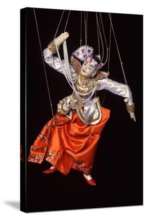 Burmese String Puppet--Stretched Canvas Print