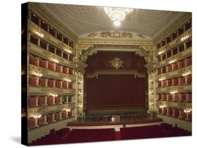 Interior of La Scala Opera House--Stretched Canvas Print