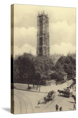 La Tour Saint-Jacques--Stretched Canvas Print