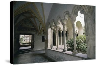 View of Cloister of Dominican Church--Stretched Canvas Print