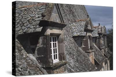 Roof Windows, Conros Castle--Stretched Canvas Print