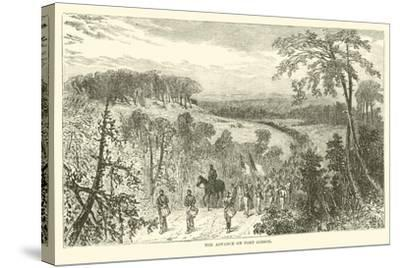 The Advance on Port Gibson, April 1863--Stretched Canvas Print