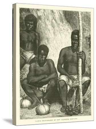 Native Fruit-Sellers of New Caledonia, Papuans--Stretched Canvas Print