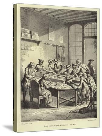 Paris Post Office under Louis Xvi--Stretched Canvas Print