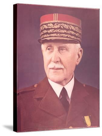 Official Portrait of Marshal Petain--Stretched Canvas Print
