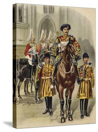 Proclaiming George V King of England, 1910-Henry Payne-Stretched Canvas Print