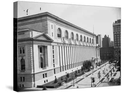 New York Public Library, C.1910--Stretched Canvas Print