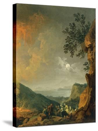 Eruption of Vesuvius-Pierre-Jacques Volaire-Stretched Canvas Print
