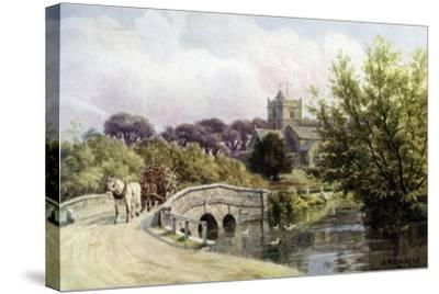 The Bridge, Coombe Bissett, Near Salisbury-Alfred Robert Quinton-Stretched Canvas Print