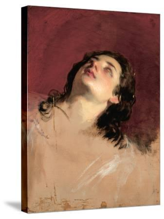Study of a Head of a Woman-Friedrich Von Amerling-Stretched Canvas Print