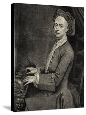 Portrait of Georg Friedrich Handel--Stretched Canvas Print