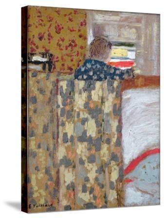 The Linen Cupboard, C.1893-95-Edouard Vuillard-Stretched Canvas Print