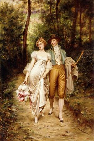 Courtship-Joseph Frederic Soulacroix-Stretched Canvas Print