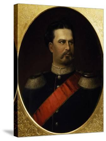 Portrait of Ludwig II--Stretched Canvas Print
