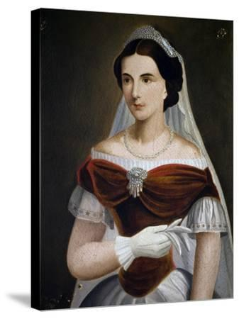 Portrait of Maria Sofia of Bavaria--Stretched Canvas Print