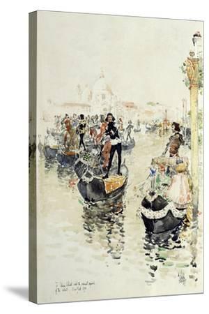 A Venetian Regatta, 1891-Childe Hassam-Stretched Canvas Print