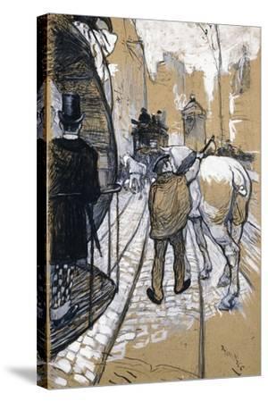 The Coach Driver of the Omnibus Company, 1888-Henri de Toulouse-Lautrec-Stretched Canvas Print