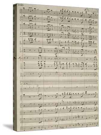 Autograph Sheet Music of Suite of La Marcia--Stretched Canvas Print