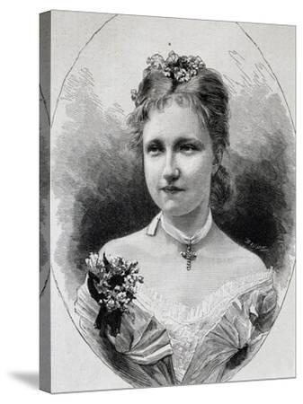 Portrait of Stephanie of Saxe-Coburg-Gotha--Stretched Canvas Print