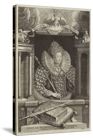 Portrait of Elizabeth I of England--Stretched Canvas Print