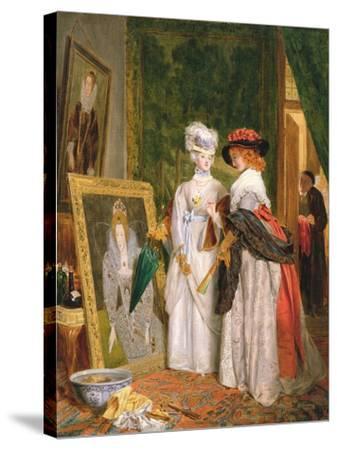 Critics on Costume, Fashions Change-John Callcott Horsley-Stretched Canvas Print