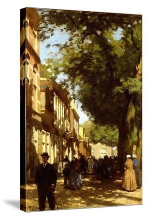 Midday on a Busy City Street, 1894-Willem Tholen-Stretched Canvas Print