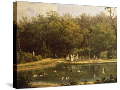 Fish-Pond in Real Bosco--Stretched Canvas Print