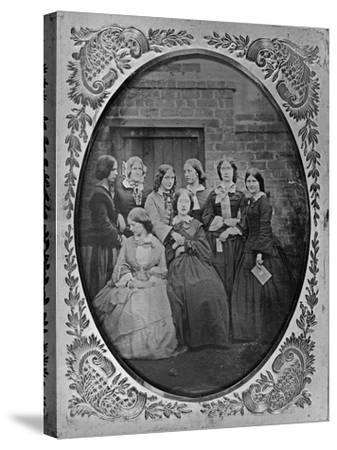Group Portrait, C.1857-Augusta Crofton-Stretched Canvas Print