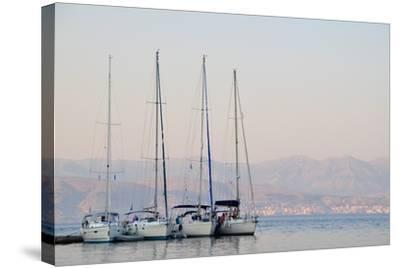 Kassiopi Harbour, Corfu, Greece--Stretched Canvas Print