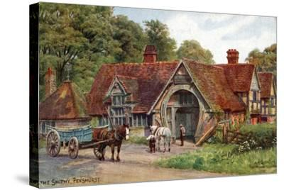 The Smithy, Penshurst, Kent-Alfred Robert Quinton-Stretched Canvas Print