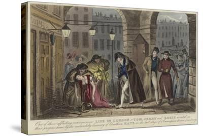 Life in London-Isaac Robert Cruikshank-Stretched Canvas Print
