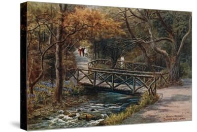 Rustic Bridges, Groudle Glen, I of Man-Alfred Robert Quinton-Stretched Canvas Print