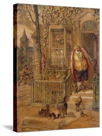 The Run-Away Knock-George Cruikshank-Stretched Canvas Print