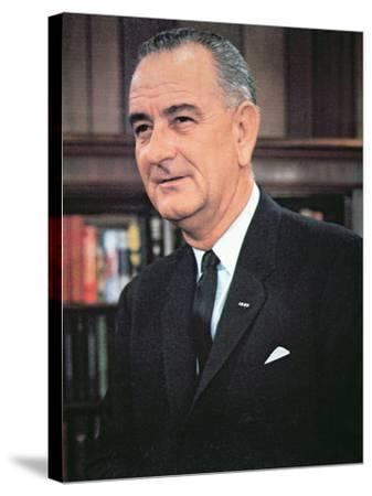 Lyndon B. Johnson--Stretched Canvas Print