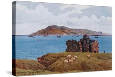 Sandsfoot Castle and Portland, Weymouth-Alfred Robert Quinton-Stretched Canvas Print