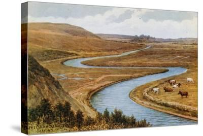 The Cuckmere Valley, Seaford-Alfred Robert Quinton-Stretched Canvas Print