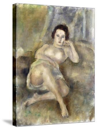 Reclining Girl, 1925-Jules Pascin-Stretched Canvas Print